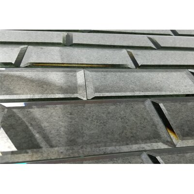 Echo 3 x 12 Mirror Glass Subway Tile in Silver
