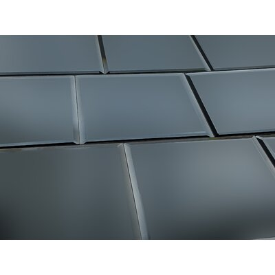 Echo 8 x 8 Mirror Glass Field Tile in Graphite Matte