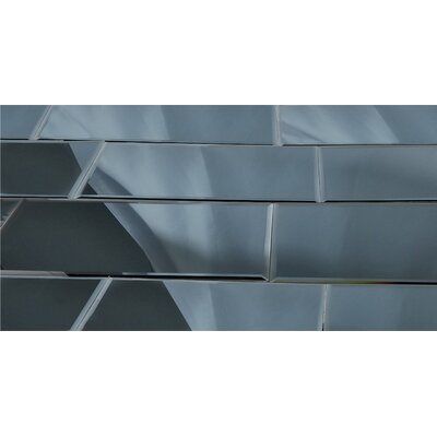 Echo 12 x 24 Mirror Glass Field Tile in Graphite