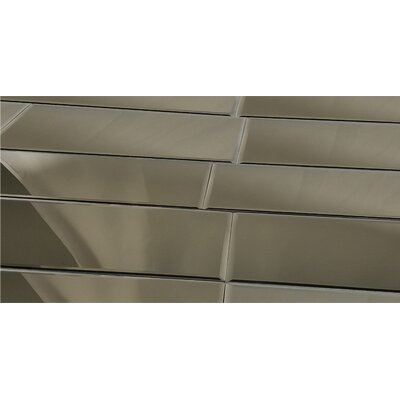 Echo 12 x 36 Mirror Glass Subway Tile in Gold