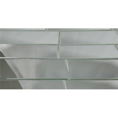 Echo 12 x 24 Mirror Glass Field Tile in Silver