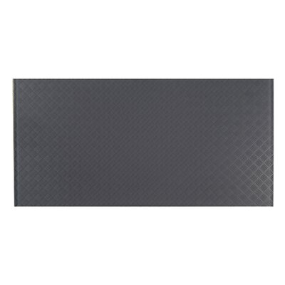 Elements Striped 12 x 24 Glass Subway Tile in Dark Gray