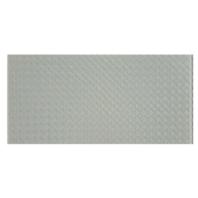 Elements Striped 12 x 24 Glass Subway Tile in Gray