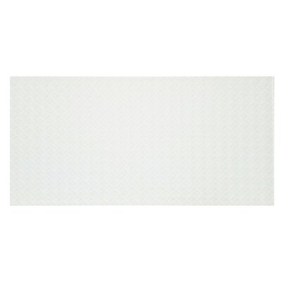 Elements Striped 12 x 24 Glass Field Tile in White
