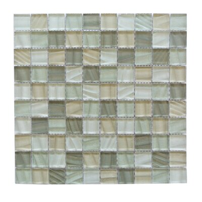 Autunno 1.25 x 1.25 Glass Mosaic Tile in Ash Gray