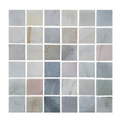 1.87 x 1.87 Stone Mosaic Tile in Desert Gray