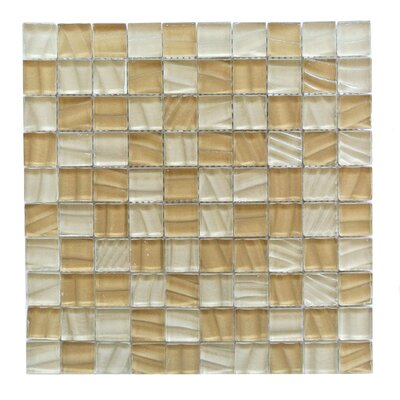 Autunno 1.25 x 1.25 Glass Mosaic Tile in Beige Mix