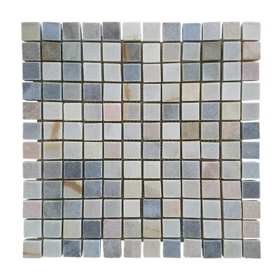 1.87 x 0.87 Stone Mosaic Tile in Desert Gray