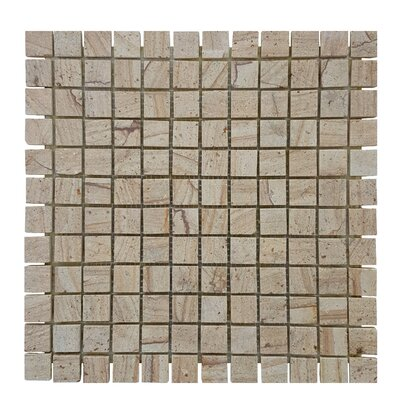 0.87 x 0.87 Stone Mosaics Tile in Brown