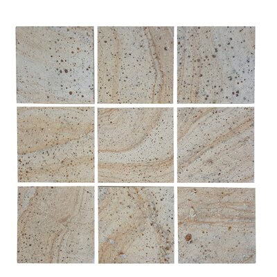 3.89 x 3.89 Stone Mosaics Tile in Brown