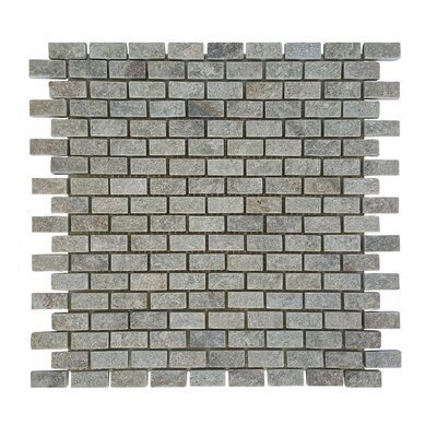 0.87 x 0.62 Stone Mosaic Tile in Gray