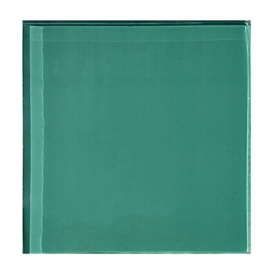 Autunno 4.25 x 4.25 Glass Field Tile in Turquoise