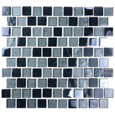 Landscape 1 x 1 Glass Mosaic Tile in Gray