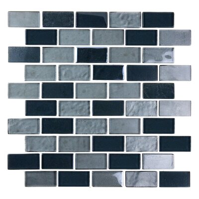 Landscape 1 x 2 Glass Mosaic Tile in Gray