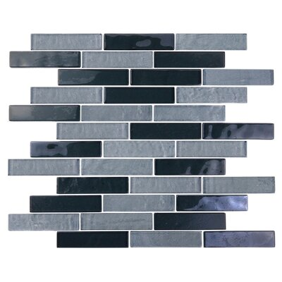 Landscape 1 x 4 Glass Mosaic Tile in Gray