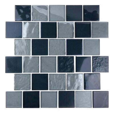 Landscape 2 x 2 Glass Mosaic Tile in Gray