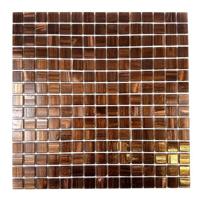 Bon Appetit 0.75 x 0.75 Glass Mosaic Tile in Glazed Antique Brass