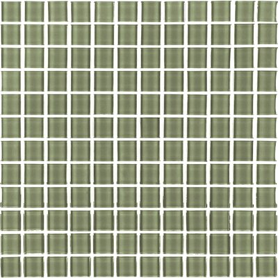 Metro 1 x 1 Glass Mosaic Tile in Cream