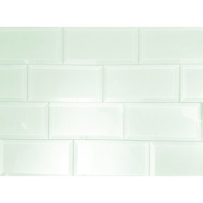 Frosted Elegance 3 x 6 Glass Subway Tile in Glossy Arctic