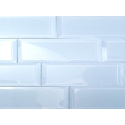 Frosted Elegance 3 x 12 Glass Subway Tile in Glossy Blue
