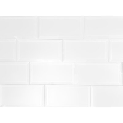 Frosted Elegance 3 x 6 Glass Subway Tile in Matte White