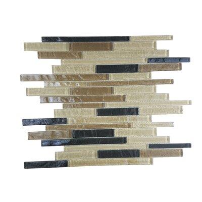 Geo Random Sized Glass Mosaic Tile in Brown Amazonia