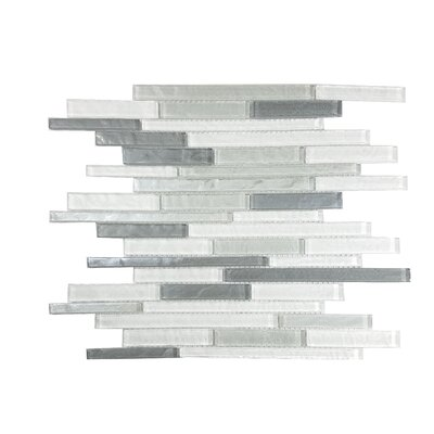 Geo Random Sized Glass Mosaic Tile in Blue Gray