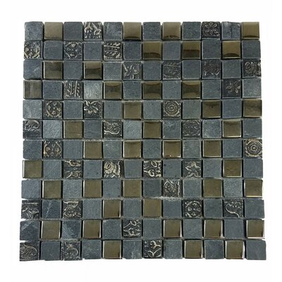 Monarchy 1 x 1 Glass and Stone Mosaic Tile in Grenada