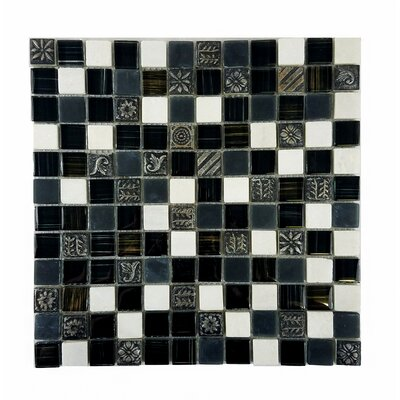 Monarchy 1 x 1 Glass and Stone Mosaic Tile in Bhutan
