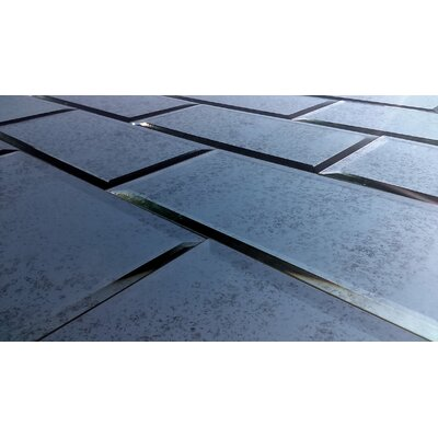 Echo 8 x 16 Glass Field Tile in Silver Antique