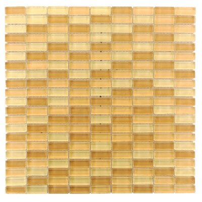 Epiphany 0.5 x 1.25 Glass Mosaic Tile in Yellow