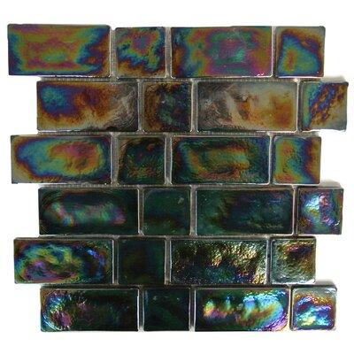 Leed Atmosphere Glass Mosaic Tile in Black Pearl