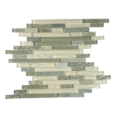 New Era II Random Sized GlassMosaic Tile in Shell Gray
