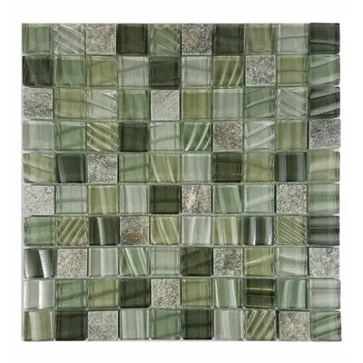 New Era II 1.25 x 1.25 Glass Mosaic Tile in Pickel