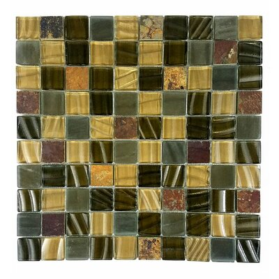 New Era II 1.25 x 1.25 Glass Mosaic Tile in Light Brown