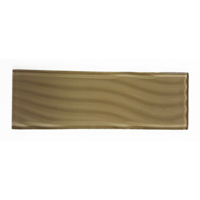 Pacific 4 x 11.75 Glass Wood Look/Field Tile in Sepia
