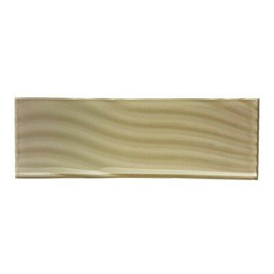 Pacific 4 x 11.75 Glass Wood Look/Field Tile in Rye