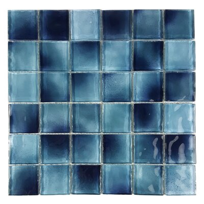 Watermarks 2 x 2 Glass Mosaic Tile in Sky Blue