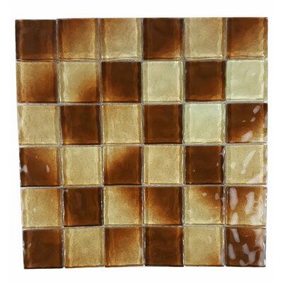 Watermarks 2 x 2 Glass Mosaic Tile in Brown