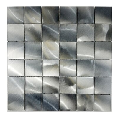 Luminous 2x 2 Aluminum Mosaic Tile in Silver