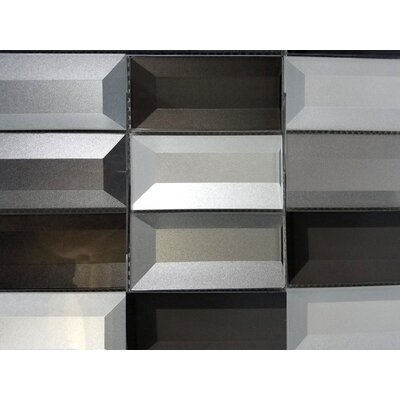Illusion 2x 4 Glass Mosiac Tile in Silver/Gray