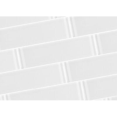 Metro 3 x 12 Glass Field Tile in White