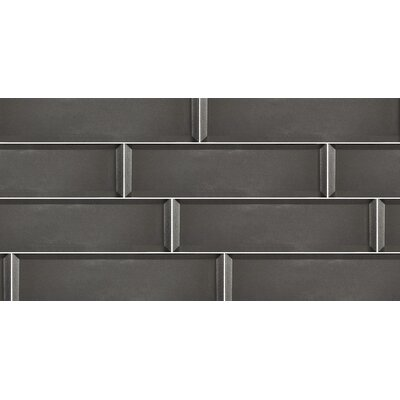 Secret Dimensions 3 x 12 Glass Subway Tile in Glossy Gray