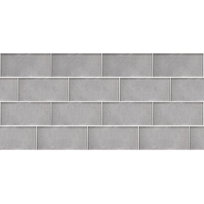 Secret Dimensions 3 x 6 Glass Subway Tile in Dark Silver