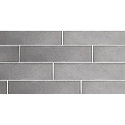 Secret Dimensions 3 x 12 Glass Subway Tile in Glossy Silver