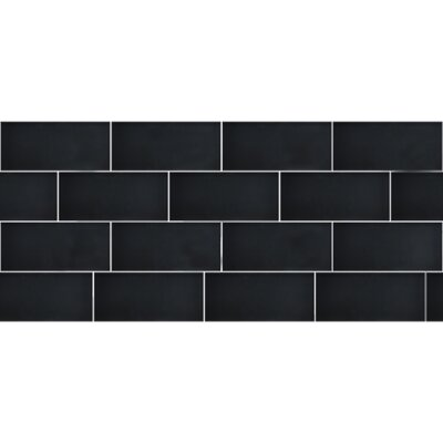 Secret Dimensions 3 x 6 Glass Subway Tile in Frosted Dark Gray