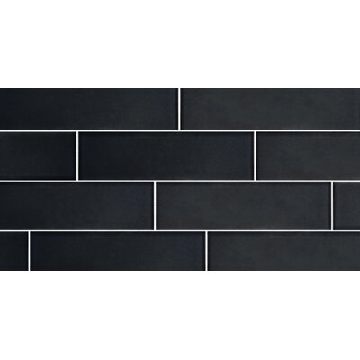 Secret Dimensions 3 x 12 Glass Subway Tile in Frosted Dark Gray