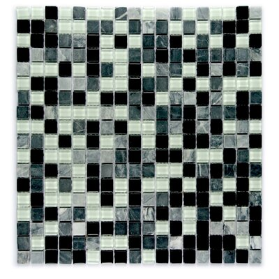Crystal Stone 0.63 x 0.63 Glass Mosaic Tile in Glazed Dreamer