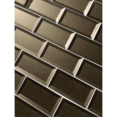Secret Dimensions 3 x 6 Glass Subway Tile in Brown