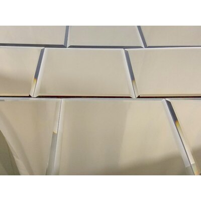 Echo 8 x 8 Mirror Glass Tile in High Gloss Gold